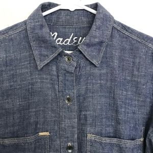 MADEWELL Hi Low Chambray Button Up Shirt